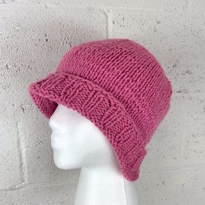 """Beanie Hat, No Size, 23"""" Circumference, Knitted."""